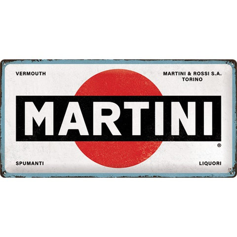 NA Tin Sign 25x50 - Martini