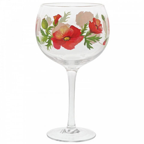 Copa Gin Glass - Poppies