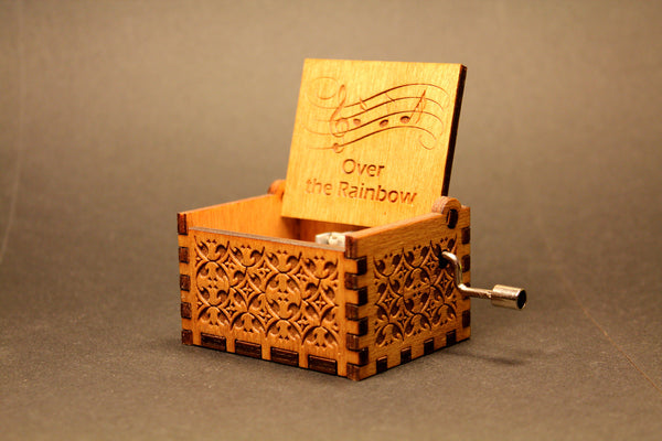 Engraved wooden music box Over The Rainbow