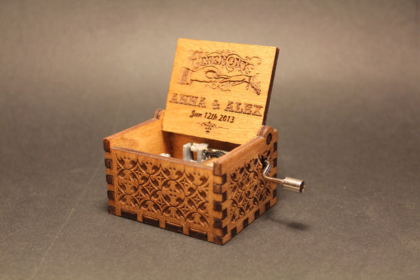 CUSTOM Engraved wooden music box - Customized Music Box