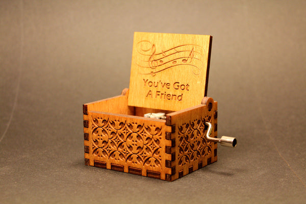 Engraved wooden music box You've Got A Friend