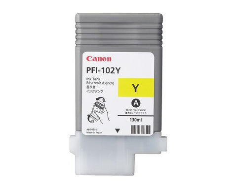 Canon PFI-102Y Yellow Ink Cartridge