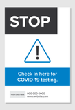 STOP - Check in for COVID-19 Testing