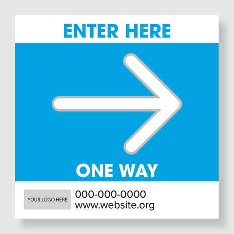 Enter Here - One Way