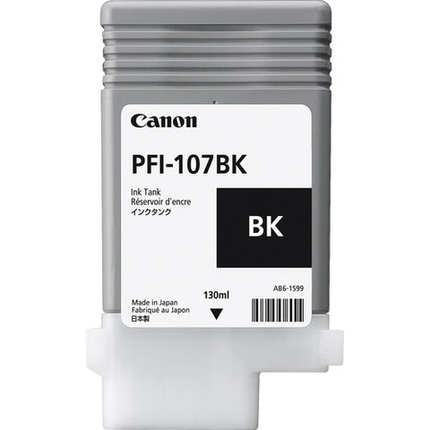 Canon PFI-107BK Black Ink Cartridge
