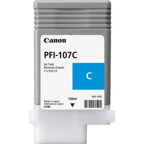 Canon PFI-107C Cyan Ink Cartridge