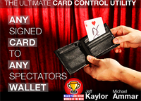 Any Card to Any Spectator's Wallet - BLACK (DVD and Gimmick) By Jeff Kaylor and Michael Ammar - DVD - Got Magic?