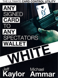 Any Card to Any Spectator's Wallet - WHITE (DVD and Gimmick) By Jeff Kaylor and Michael Ammar - DVD - Got Magic?