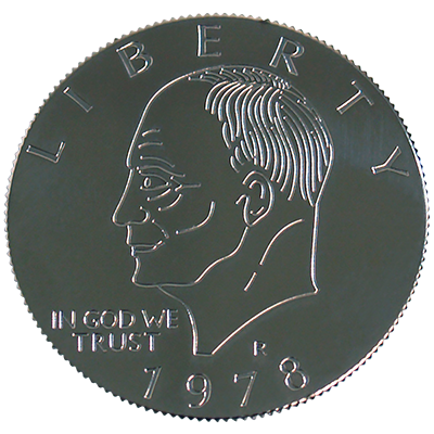 Eisenhower Palming Coin (Dollar Sized)by You Want it We Got it - Trick - Got Magic?