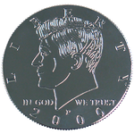 Kennedy Palming Coin (Half Dollar Sized) by You Want It We Got It - Trick - Got Magic?