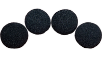 2 inch High Density Ultra Soft Sponge Ball (Black) Pack of 4 from Magic by Gosh - Got Magic?
