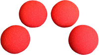 1.5 inch High Density Ultra Soft Sponge Ball (Red) Pack of 4 from Magic by Gosh - Got Magic?
