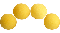 1.5 inch High Density Ultra Soft Sponge Ball (Yellow) Pack of 4 from Magic by Gosh - Got Magic?