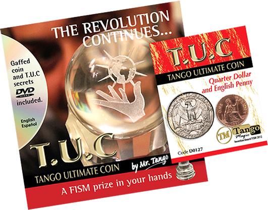 Tango Ultimate Coin (T.U.C) Quarter/Penny (D0127) with instructional DVD by Tango - Trick - Got Magic?