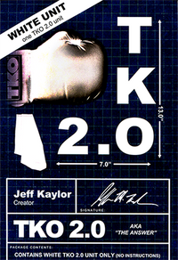 TKO 2.0 Gimmick only (white) by Jeff Kaylor - Trick - Got Magic?