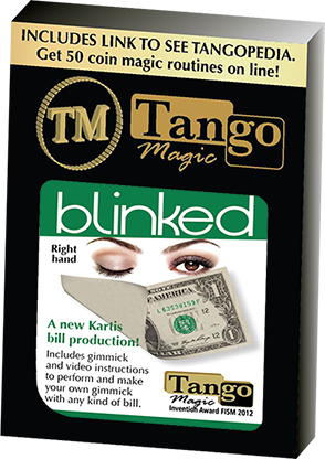 Tango Blinked Right Handed (Gimmick and Online Instructions) V0016 by Tango Magic - Trick - Got Magic?