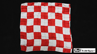 "Production Hanky Chess Board Red and White (21"" x 21"") by Mr. Magic - Trick - Got Magic?"