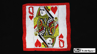 Production Hanky Queen of Hearts (36 inch  x 36 inch) by Mr. Magic - Trick - Got Magic?