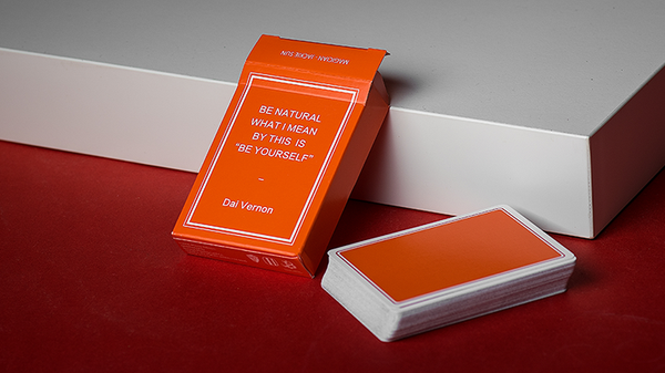 Magic Notebook Deck - Limited Edition (Orange) by The Bocopo Playing Card Company - Got Magic?