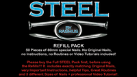 STEEL Refill Nails 50 ct. (80mm) by Rasmus - Trick - Got Magic?