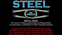 STEEL Refill Nails 50 ct. (100mm) by Rasmus - Trick - Got Magic?