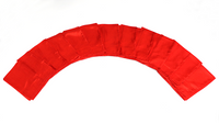 Silks 15 inch 12 Pack (Red) Magic by Gosh - Trick  (12 PACK IS 1 UNIT) - Got Magic?