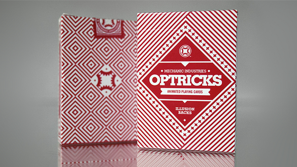 Mechanic Optricks (Red) Deck by Mechanic Industries - Got Magic?