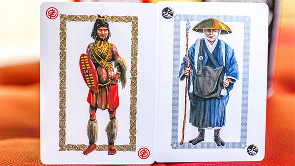Ancient Warriors (Black) Playing Cards - Got Magic?