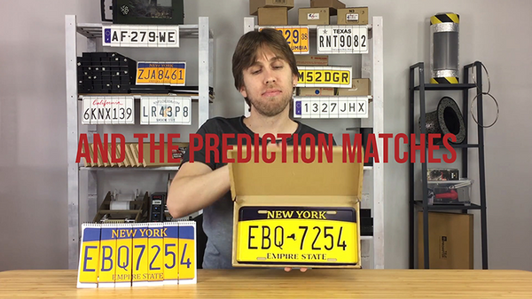 LICENSE PLATE PREDICTION - NEW YORK (Gimmicks and Online Instructions) by Martin Andersen - Trick - Got Magic?