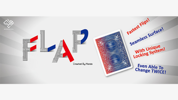 Modern Flap Card (Red to Blue Face Card) by Hondo - Got Magic?