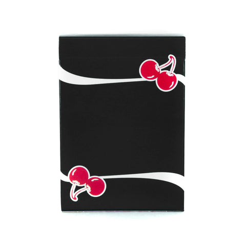 Cherry Playing Cards True Black