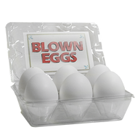 High Quality Blown Eggs(White / 6-pack)by The Great Gorgonzola - Trick - Got Magic?