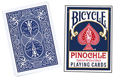 Cards Bicycle Pinochle Poker-size (Blue) - Got Magic?