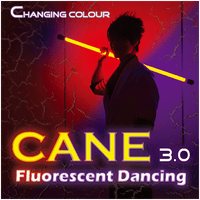 Color Changing Cane 3.0 Fluorescent Dancing (Professional two color) by Jeff Lee - Trick - Got Magic?