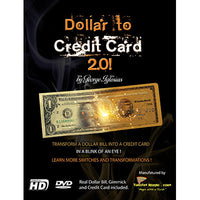 Dollar to Credit Card 2.0 (Gimmick and Online Instructions) by Twister Magic - Trick - Got Magic?