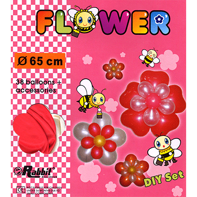 Four Balloon Flower Kit DIY SET (38 balloons 65cm) by Will Roya - Trick - Got Magic?