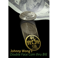 Double Face Coin Thru Bill  by Johnny Wong - Trick - Got Magic?