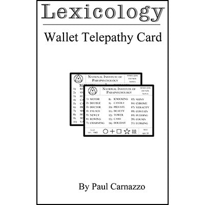 Lexicology with Telepathy card by Paul Carnazzo - Trick - Got Magic?