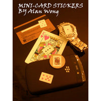 Mini Card Stickers (12 sheets) by Alan Wong- Trick - Got Magic?