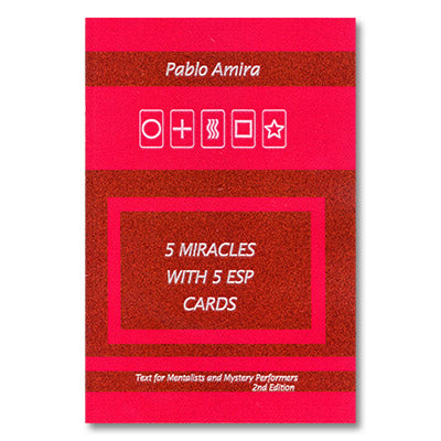 5 Miracles with ESP Cards by Pablo Amira and Titanas - Book - Got Magic?