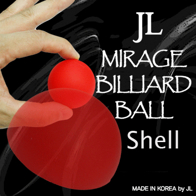 2 Inch Mirage Billiard Balls by JL (RED, shell only) - Trick - Got Magic?