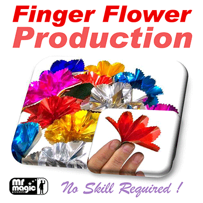Finger Flower Production (Set of 16) by Mr. Magic - Trick - Got Magic?