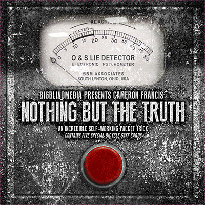 Nothing but the Truth (DVD and Gimmicks) by Cameron Francis and Big Blind Media - DVD - Got Magic?