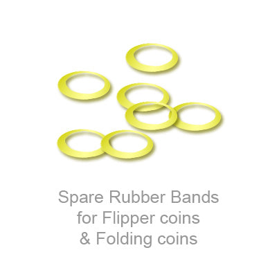 Spare Rubber Bands for Flipper coins & Folding coins - (25 per package) - Trick - Got Magic?