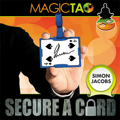 Secure A Card (Blue) by Simon Jacobs and MagicTao - Trick - Got Magic?