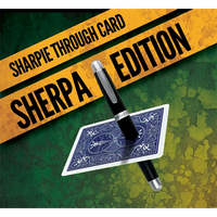 Sharpie Through Card SHERPA Version (DVD and Gimmick) Blue by Alakazam Magic - DVD - Got Magic?