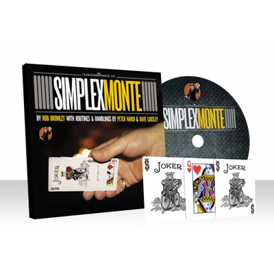 Simplex Monte Blue (Gimmicks and Online Instructions) by Rob Bromley and Alakazam Magic - DVD - Got Magic?