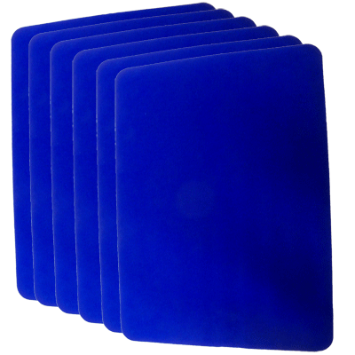 Small Close Up Pad 6 Pack (Blue 8.5 inch  x 12 inch) by Goshman - Trick - Got Magic?