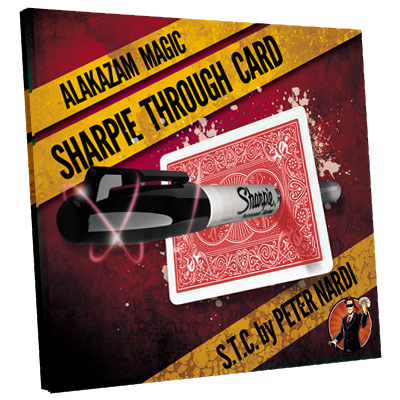 Sharpie Through Card (Gimmick and Online Instructions) Red by Alakazam Magic - DVD - Got Magic?
