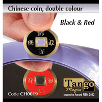 Chinese Coin (CH0019) Black & Red by Tango Magic - Tricks - Got Magic?